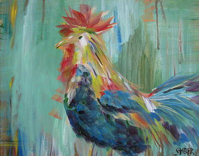 Funky Rooster Art Print