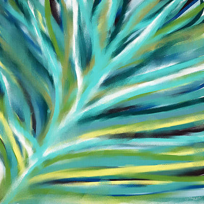 Blue And Green Painting - Funky Shades by Lourry Legarde