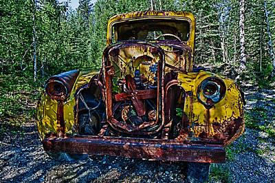 Funky Truck Art Print by Craig Brown
