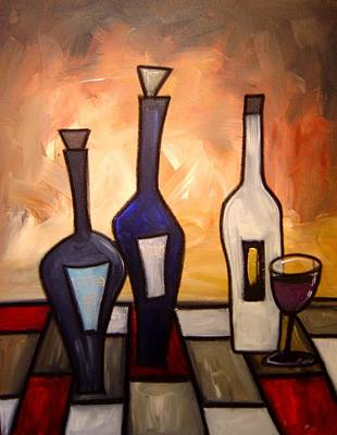 Gino Painting - Funky Wine 15 by Gino Savarino