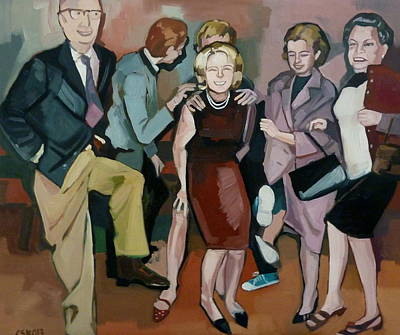 Painting - Funny 60s by Carmen Stanescu Kutzelnig