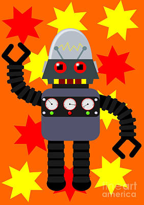 Clip Digital Art - Funny Angry Robot by Martin Capek