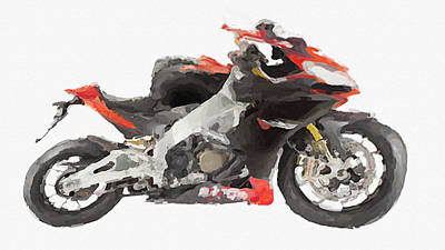 Limited Edition Mixed Media - Funny Aprilia Rsv4 Factory by Aston Pershing