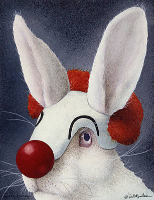 Clown Painting - Funny Bunny... by Will Bullas