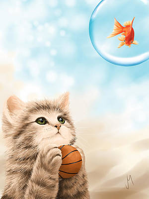 Basket Ball Digital Art - Funny Games by Veronica Minozzi