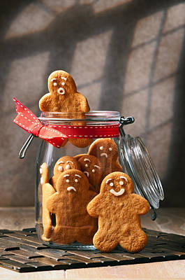 Photograph - Funny Gingerbread Men by Amanda Elwell