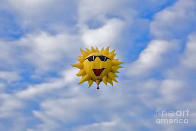 Funny Sunny Balloon Fac Art Print by Brenda Giasson