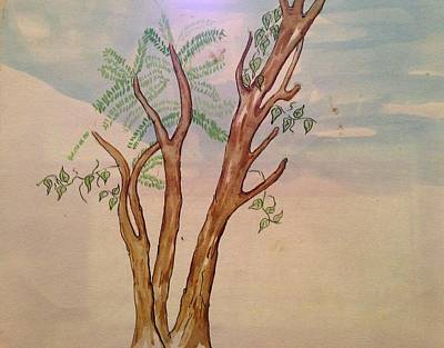 Painting - Funny Tree by Erika Chamberlin