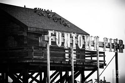 Funtown Pier Art Print by John Rizzuto