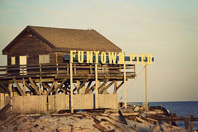 Photograph - Funtown Pier Vintage by Terry DeLuco