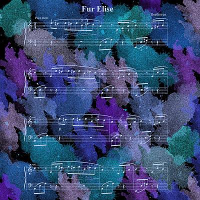 Fur Elise Music Digital Painting Art Print by Georgeta Blanaru