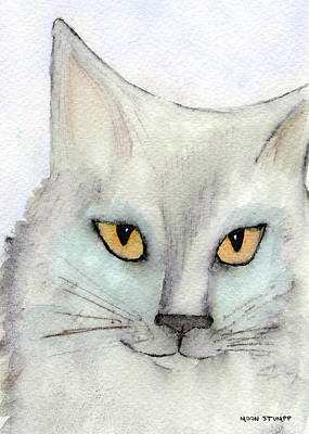 Watercolor Pet Portraits Painting - Fur Friends Series - Lizzy by Moon Stumpp