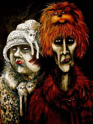 Wall Art - Painting - Fur Hags by Jakki Moore