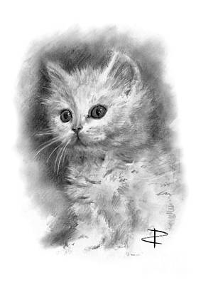 Drawing - Furball by Paul Davenport