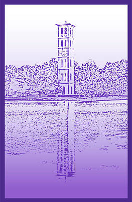 Clemson Digital Art - Furman Bell Tower by Greg Joens