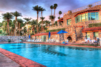 Hot Creek Photograph - Furnace Creek Inn Sunset  by Heidi Smith