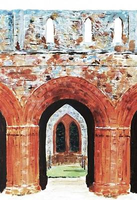 Barrow In Furness Wall Art - Painting - Furness Abbey Ruins Cumbria Uk by Nigel Radcliffe