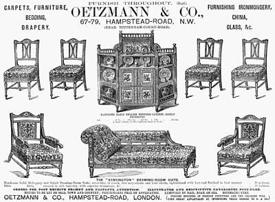 Painting - Furniture Ad, 1884 by Granger