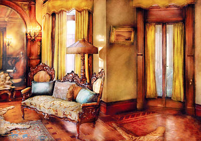 Furniture - Chair - The Queens Parlor Art Print by Mike Savad