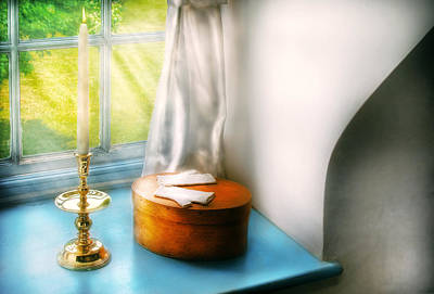 Photograph - Furniture - Lamp - In The Window  by Mike Savad