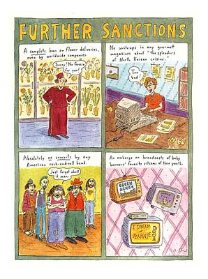 Government Drawing - 'further Sanctions' by Roz Chast