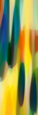Abstract Forms Painting - Fury Panoramic Vertical 1 by Amy Vangsgard