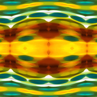 Abstract Seascape Digital Art - Fury Pattern 5 by Amy Vangsgard