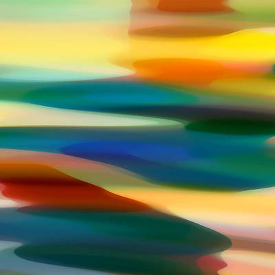 Colorful Abstracts Painting - Fury Seascape 5 by Amy Vangsgard