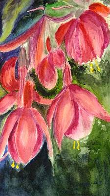 Painting - Fuschia 2 by Peggy King