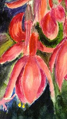 Painting - Fuschia 3 by Peggy King