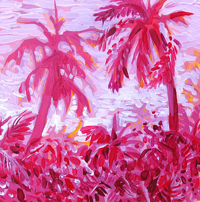 Print featuring the painting Fuschia Landscape by Tilly Strauss