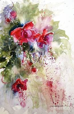 Painting - Fuschia by Sandra Strohschein