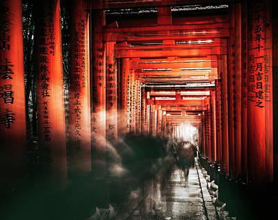Kyoto Photograph - Fushimi Inari Shrine by Carmine Chiriaco'
