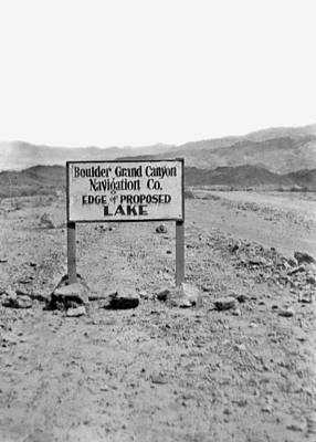 Traffic Sign Photograph - Future Edge Of Lake Meade by Underwood Archives