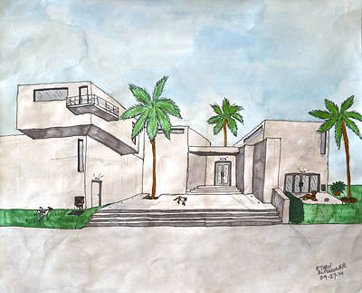 Architectural House  Art Print by Ethan Altshuler