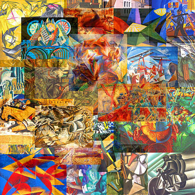 Timeline Mixed Media - Futurism 1909 To The 1930s by Anders Hingel