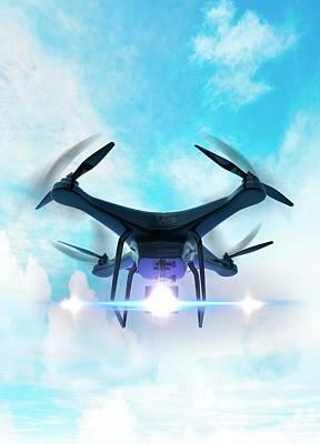 Trio Photograph - Futuristic Drone by Victor Habbick Visions