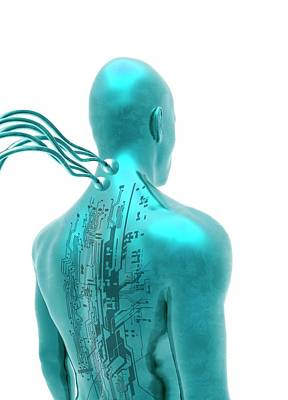 Circuit Photograph - Futuristic Human With Circuit Board by Victor Habbick Visions
