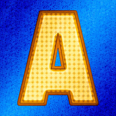 Digital Art - Futuristic Modern Alphabet - Letter A by Mark E Tisdale