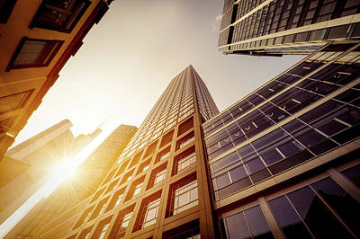 Futuristic Office Buildings Art Print by Ppampicture