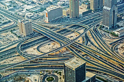 Photograph - Futuristic Traffic Junction In Dubai by Mbbirdy