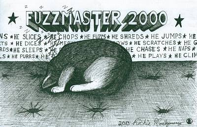 Painting - Fuzzmaster 2000 by Richie Montgomery