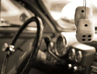 Photograph - Fuzzy Car Dice by Dan Sproul