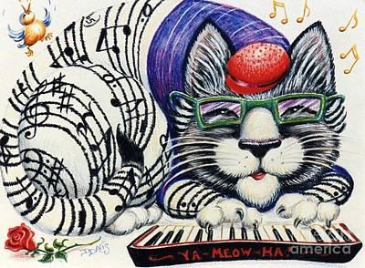 Fuzzy Catterwailen Art Print