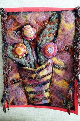 Dry Felt Photograph - Fuzzy Flowers by Selma Glunn