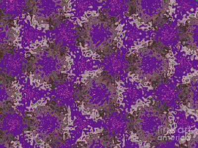Fuzzy Digital Art - Fuzzy Purple Amoebas by Jeannie Atwater Jordan Allen