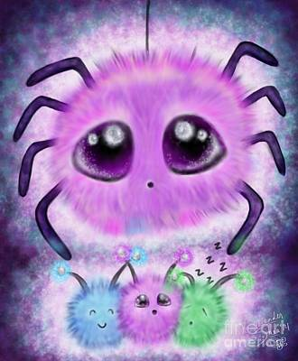 Fuzzy Digital Art - Fuzzy Spidder by Coriander  Shea