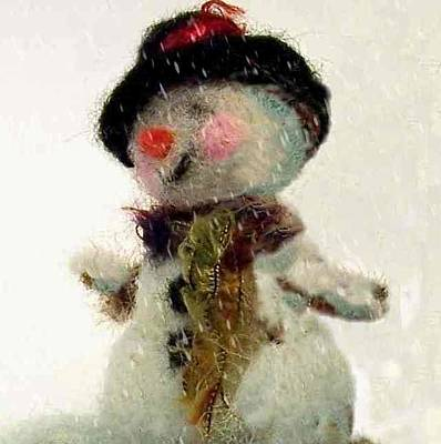 Photograph - Fuzzy The Snowman by Mary Wolf