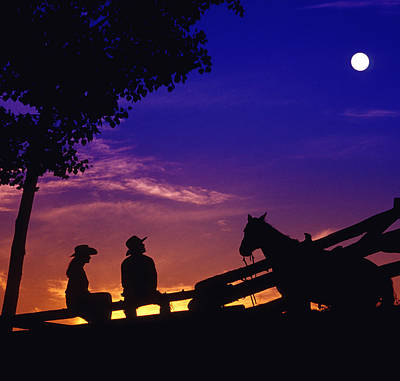 Fv5269, Chris Harris Cowboy And Cowgirl Art Print