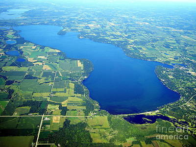 Photograph - G-034 Green Lake Wisconsin Summer To West by Bill Lang